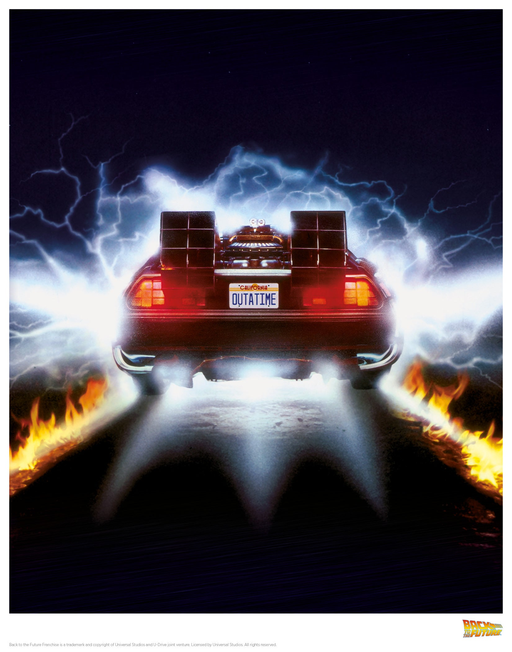 Back to the Future Flames print