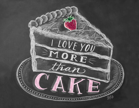 Chalkboard Artwork - I love you more than cake Chalkboard