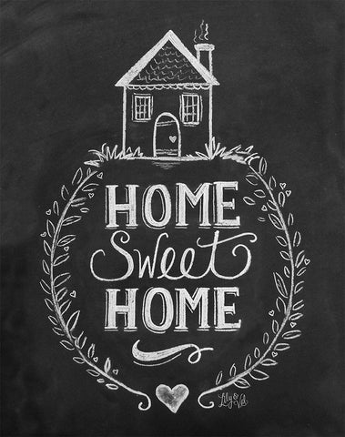 Chalkboard Artwork - Home sweet home