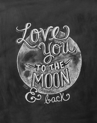Chalkboard Artwork - Love you to the moon Chalkboard