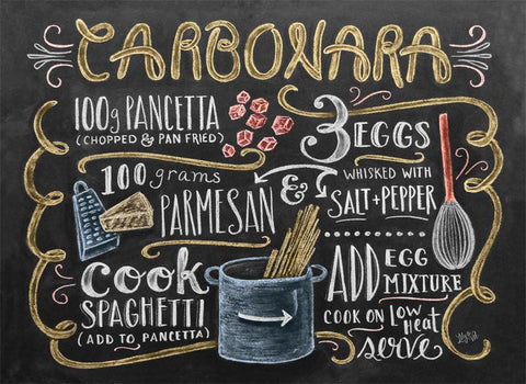 Chalkboard Artwork - Carbonara