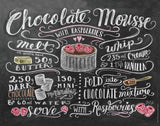 Chalkboard Artwork - Chocolate Mousse Chalkboard