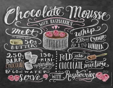 Chalkboard Artwork - Chocolate Mousse