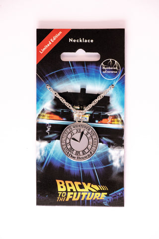 Back to the Future Clock Necklace Jewellery Back to the Future