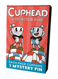 Cuphead Mystery Pin Badge display with 12 Pins