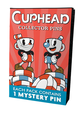 Cuphead Mystery Pin Badges - 2 Packs