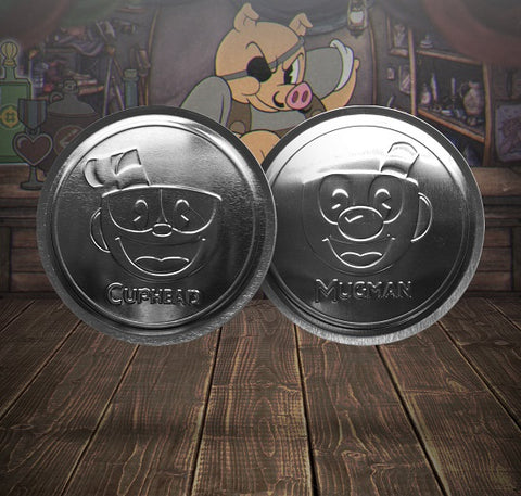 Cuphead drinks coasters