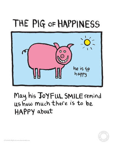 Pig of Happiness Edward Monkton