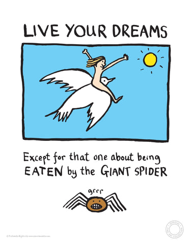 Live your dreams Edward Monkton