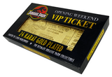 Jurassic Park 24K Gold Plated Park Ticket