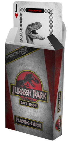 Jurassic park playing cards gift