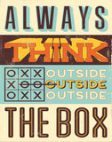 Outside the box - Motivational Artwork Motivational