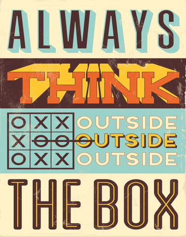 Outside the box - Motivational Artwork