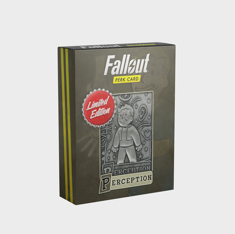 Fallout - Limited Edition Replica Perk Card - Perception