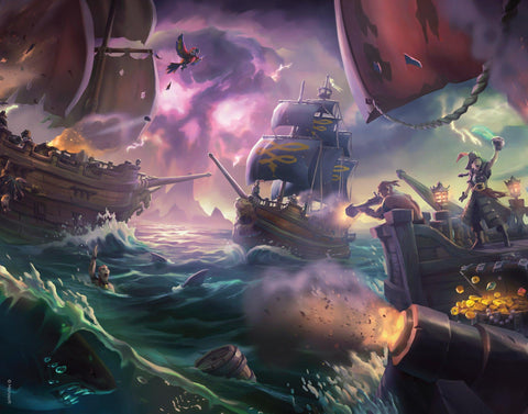 Sea of Thieves - Battle of the three storms Sea of Thieves art print gift