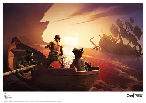 Sea of Thieves - Kraken Encounter Sea of Thieves art print gift