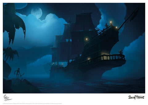 Sea of Thieves - Moonlight Respite Sea of Thieves art print gift