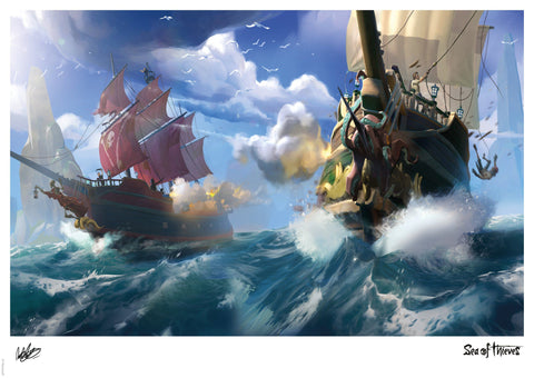 Sea of Thieves - Broadsides at noon Sea of Thieves art print gift