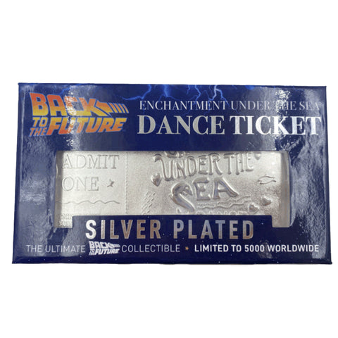 Back to the Future silver plated Enchantment Under the Sea dance ticket