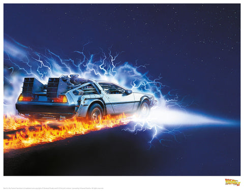 Back to the Future - 88 Miles per hour Print Back to the Future