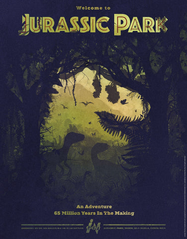 Jurassic Park - 65 Million years in the making Jurassic Park art print