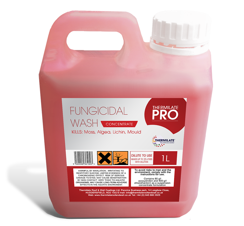 Pro fungicidal wash thermilate for Fungal wash for exterior walls