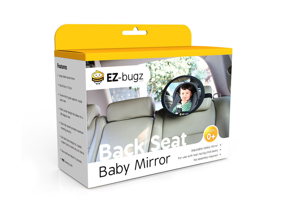 Ez Bugz Baby Car Mirror For Rear Facing Child Seats Big
