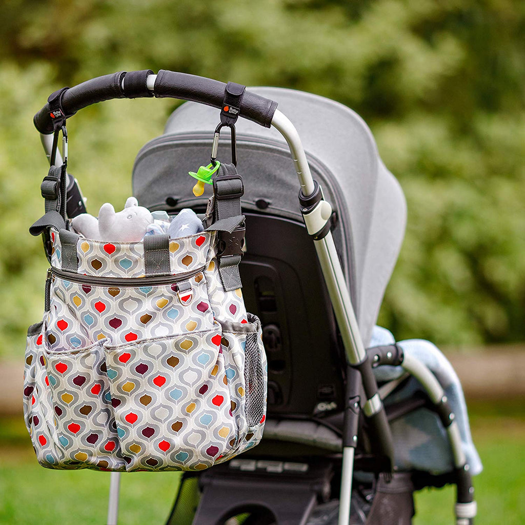 Hook Your Shopping Bags on Your Pushchair x 2 Buggy Clips by Baby Uma
