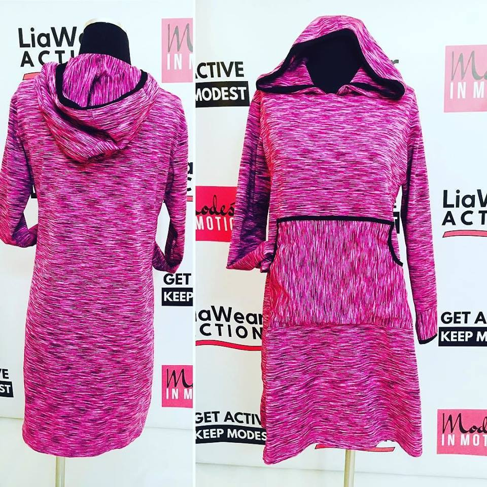 All Sport Hoodie Dress - LiaWear Action, modest workout clothes, sport hijab, long sleeve workout top, modest burkini, islamic swimsuit, cute modest, modest workout pants, muslimah sportswear, muslim modest sportswear, Islamic athletic wear, modest clothing, fit muslimah, active muslimah, fit hijabi, hijab shop, online, plus size muslimah, plus size muslimah sport clothing