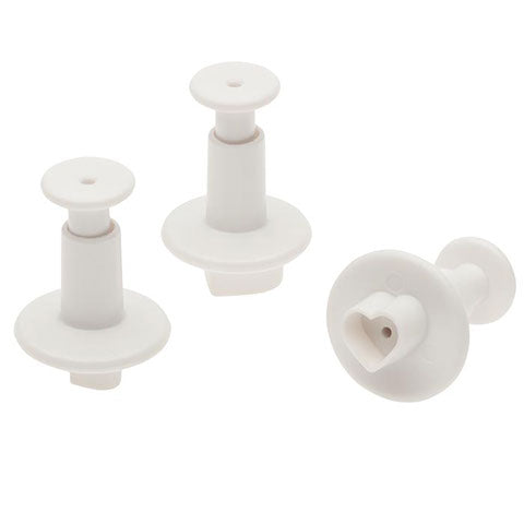Mini Heart Plunger Cutter - Set of Three