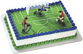 Soccer Kick Off Cake Topper