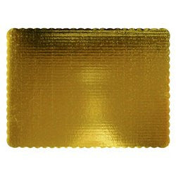 Gold Scalloped Rectangle Boards