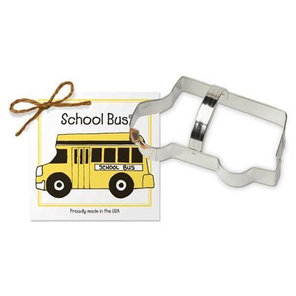 School Bus Cookie Cutter - Traditional 5 1/2""