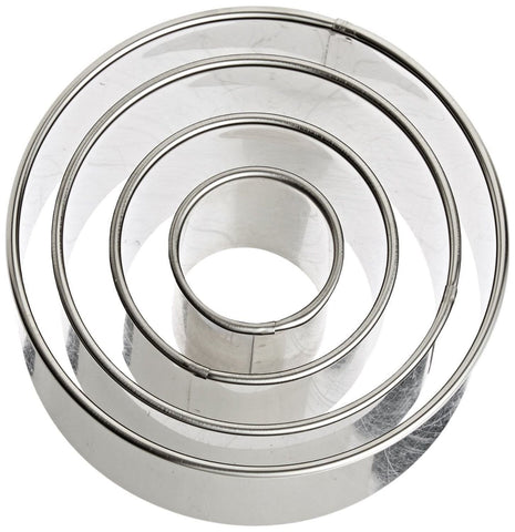 Plain Round Cutter Set of 4