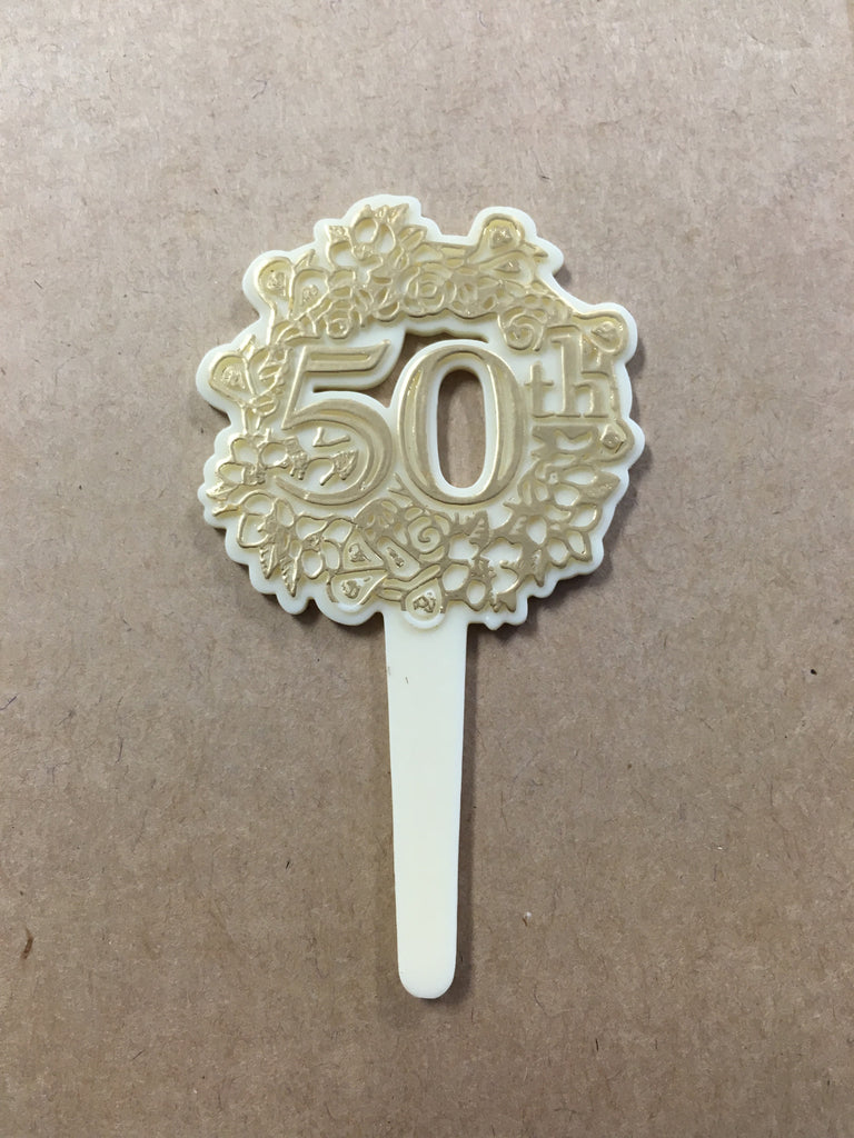 50th Cupcake Picks