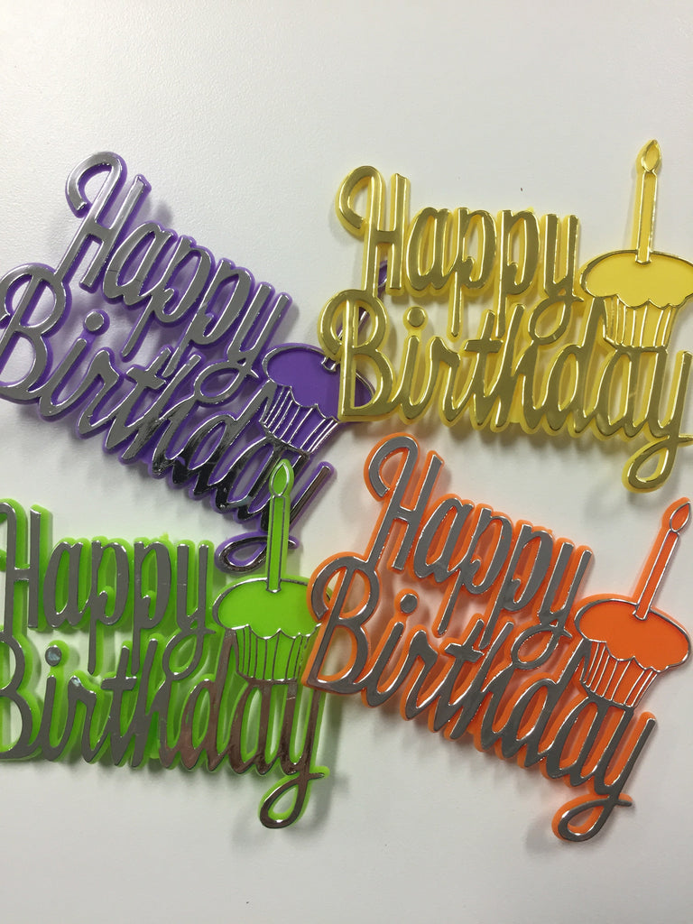 Happy Birthday Cupcake Plaque