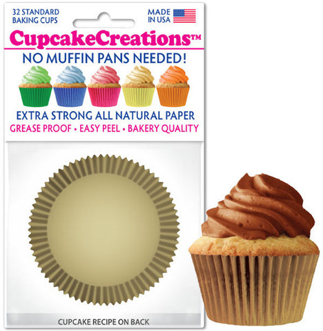 Gold Greaseproof Liner - Cupcake Creations