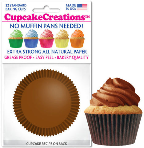 Chocolate Brown Greaseproof Liner - Cupcake Creations