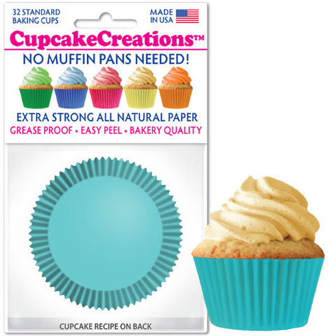 Light Turquoise Greaseproof Liner - Cupcake Creations