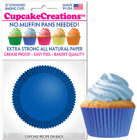 Blue Greaseproof Liner - Cupcake Creations