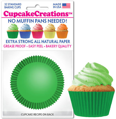 Green Greaseproof Liner - Cupcake Creations