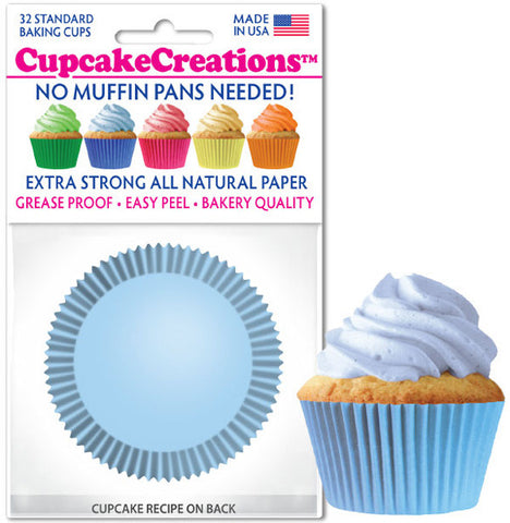 Light Blue Greaseproof Liner - Cupcake Creations