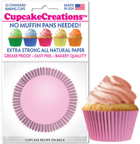 Light Pink Greaseproof Liner - Cupcake Creations