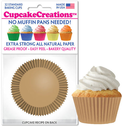 Natural Greaseproof Liner - Cupcake Creations