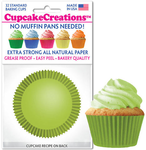 Lime Green Greaseproof Liner - Cupcake Creations