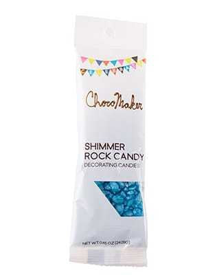 Blue Rock Candy Shimmered Decorating Candies - .85 oz Bag