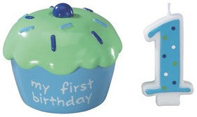 Blue Cupcake Keepsake DecoSet®