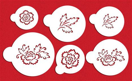 Brush Embroidery Flower Stencil