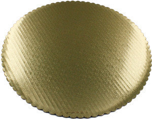Scalloped Edge Cake Circles - Gold