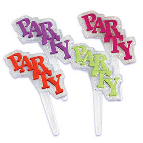 Party Glitter Cupcake Picks